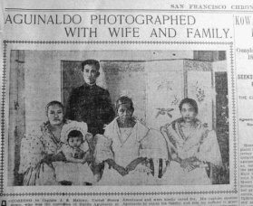 Aguinaldo and family SF Chronicle Aug 4 1901