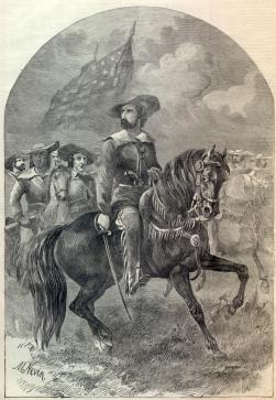 John C. Fremont on Horse