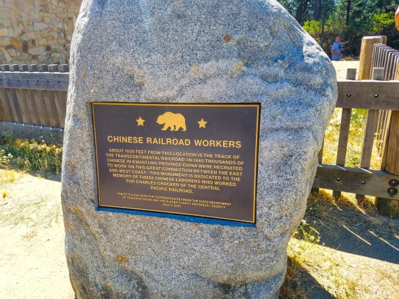 Marker commemorating the Chinese in the Railroad