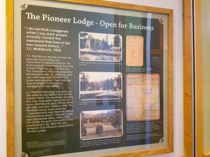 Marker for the lodge