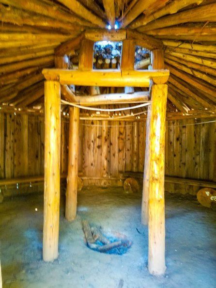 Inside the roundhouse