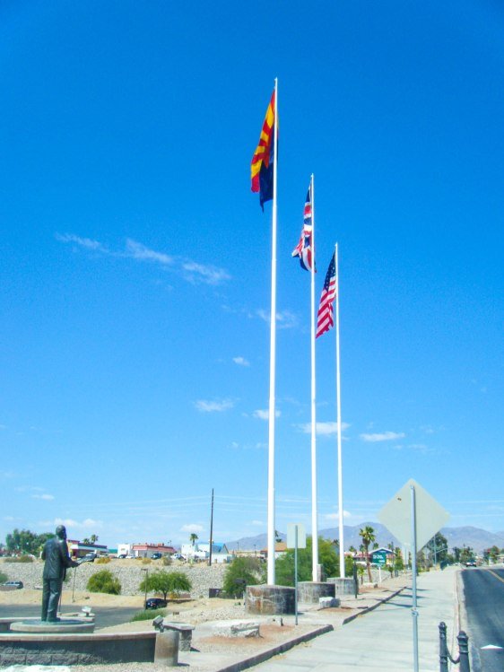AZ, USA and UK flags
