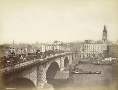 London Bridge in 19th century