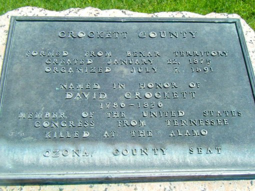 Marker for the county