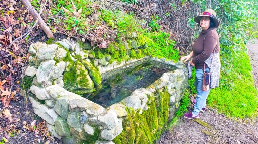 Water fountain along the trail