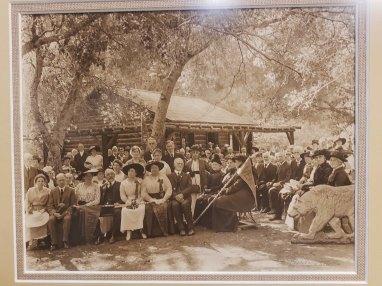 People by the Alum Rock Cabin