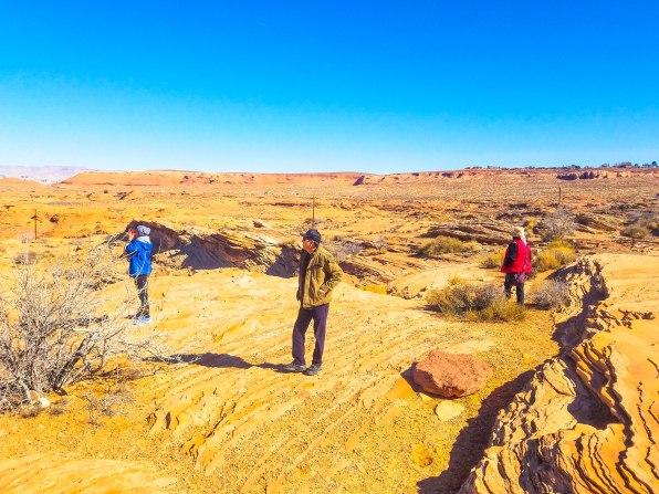 Family at the canyon