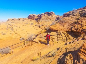 Railings down the canyon