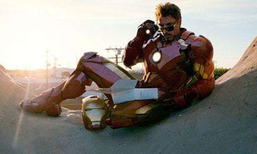 Iron Man with his dozen donut