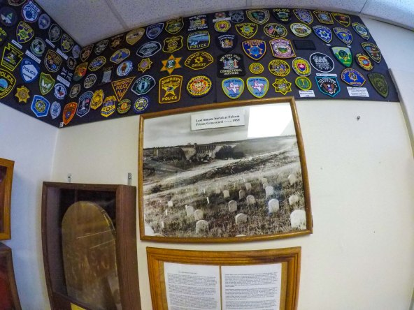 Badges and prison cemetery