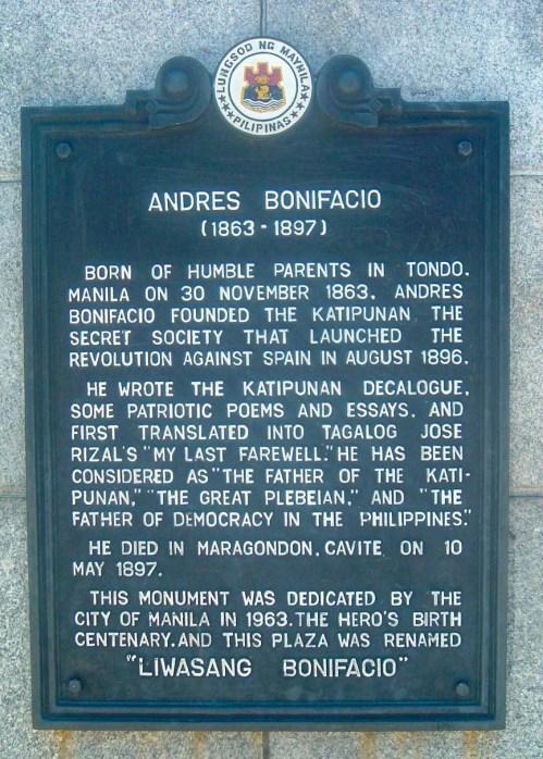 Marker for Bonifacio