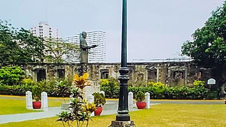 Ruins where Jose Rizal was imprisoned