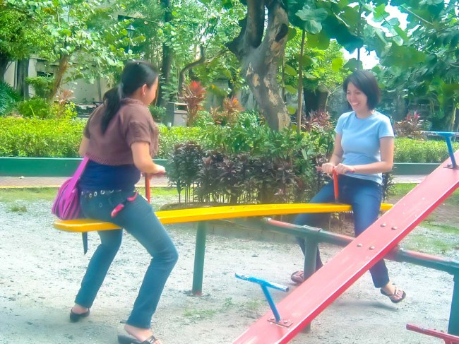 In the seesaw